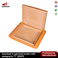 Beautiful Finished lightweight wooden Cigar Humidor box manufacturer