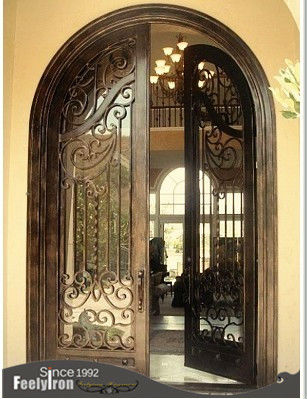 Affordable wrought iron door