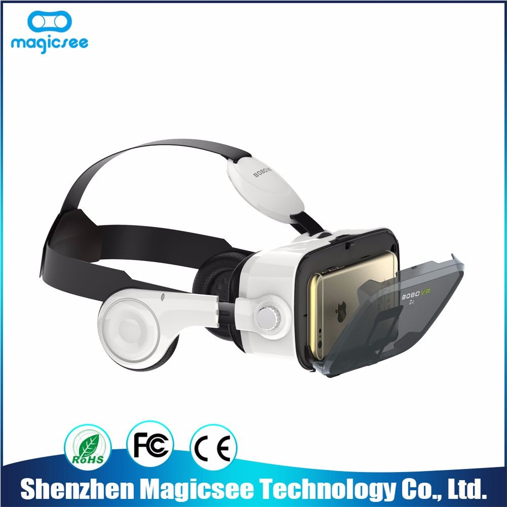 Brilliant quality fashionable vr headset oem 3d vr glasses bobo z4 with headphone