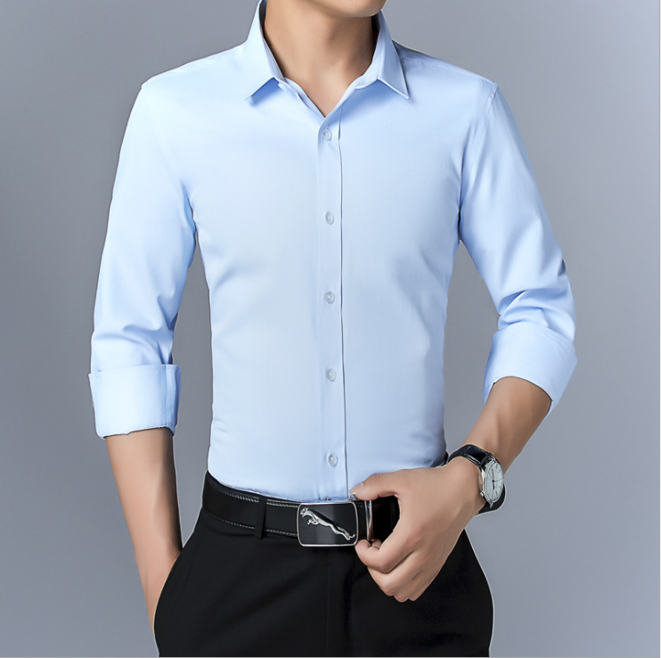 Spring New Mens Slim Solid Color <strong>Shirt</strong> Business Long Sleeve <strong>Shirt</strong>