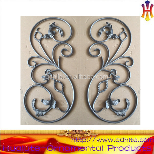 Elegant Ornamental wrought iron rosettes fence gate decorative rosettes