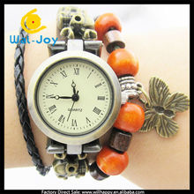 high quality fashion skeleton butterfly ladies wrist watch(SW-1090)