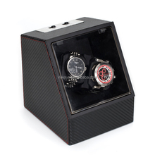 VIIWAYS carbon fiber leather watch winder automatic in pu leather material