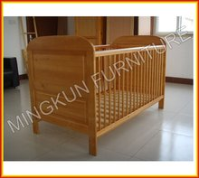 custom made wood baby crib attached bed