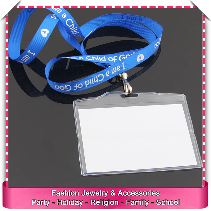 Clear soft plastic id card holders, with lanyard silicone id badge card holder