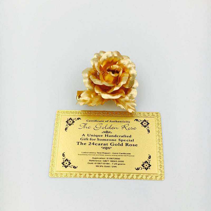 Cangnan Kelin Offer 5cm 24K gold foil rose wedding brooches for party decoration