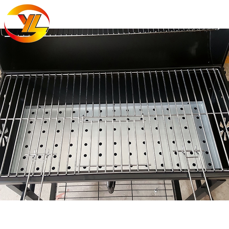 Popular large Barrel bbq charcoal grills with useful shelves