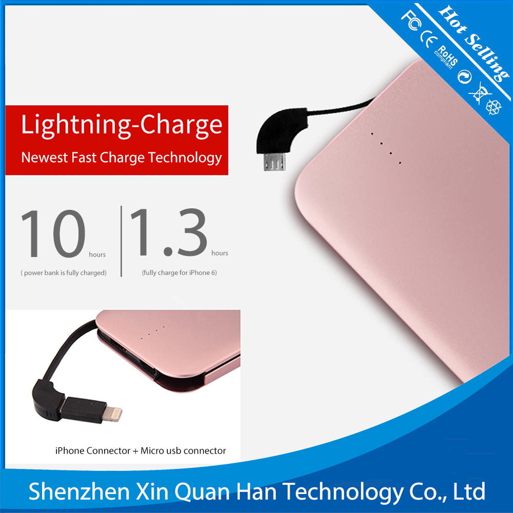 2016 Mini Aluminum Power Bank 7000mAh, Mobile Phone Charger 7000mAh for phone