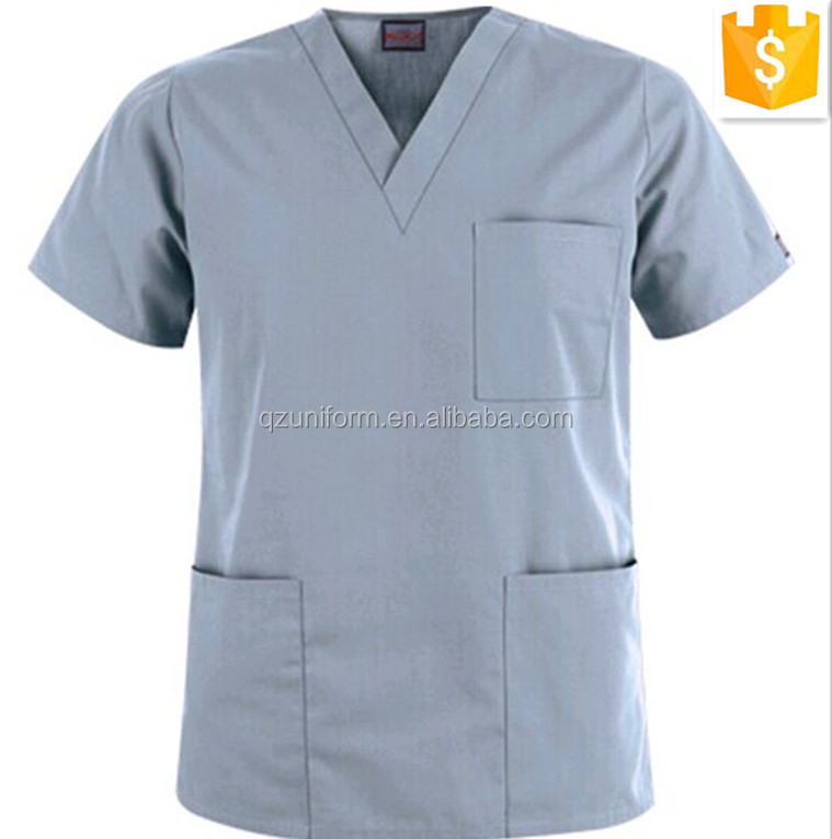 Workwear Unisex 100Cotton Three Pockets Surgical Scrub Top and Medical Suits