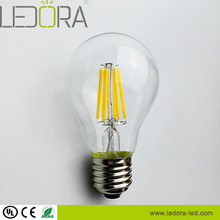 UL listed Dimmable 4w 6w 8w Clear Glass A19 Globe edison lights lampadine led e27