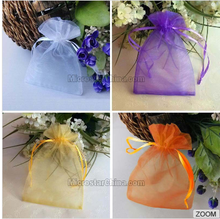Personalized Promotion Organza Gift Pouch Wholesale White Drawstring Logo Large Custom Printed Organza Pouch