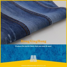 NO.695 color blue Yarn Dyed polyester-cotton fabric denim stocklot with low price