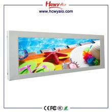 19inch player adverting use lcd monitor usb media player for advertising HD screen playing long wide screen lcd display