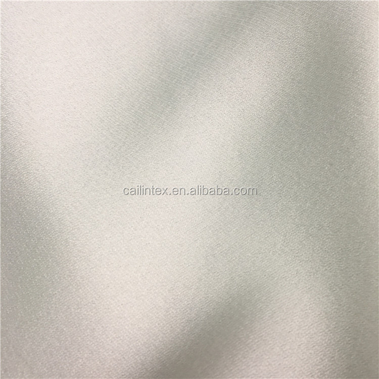 Hot Sell One Face Satin One Face Moss Polyester Moss Crepe Fabric for Pants and Garments