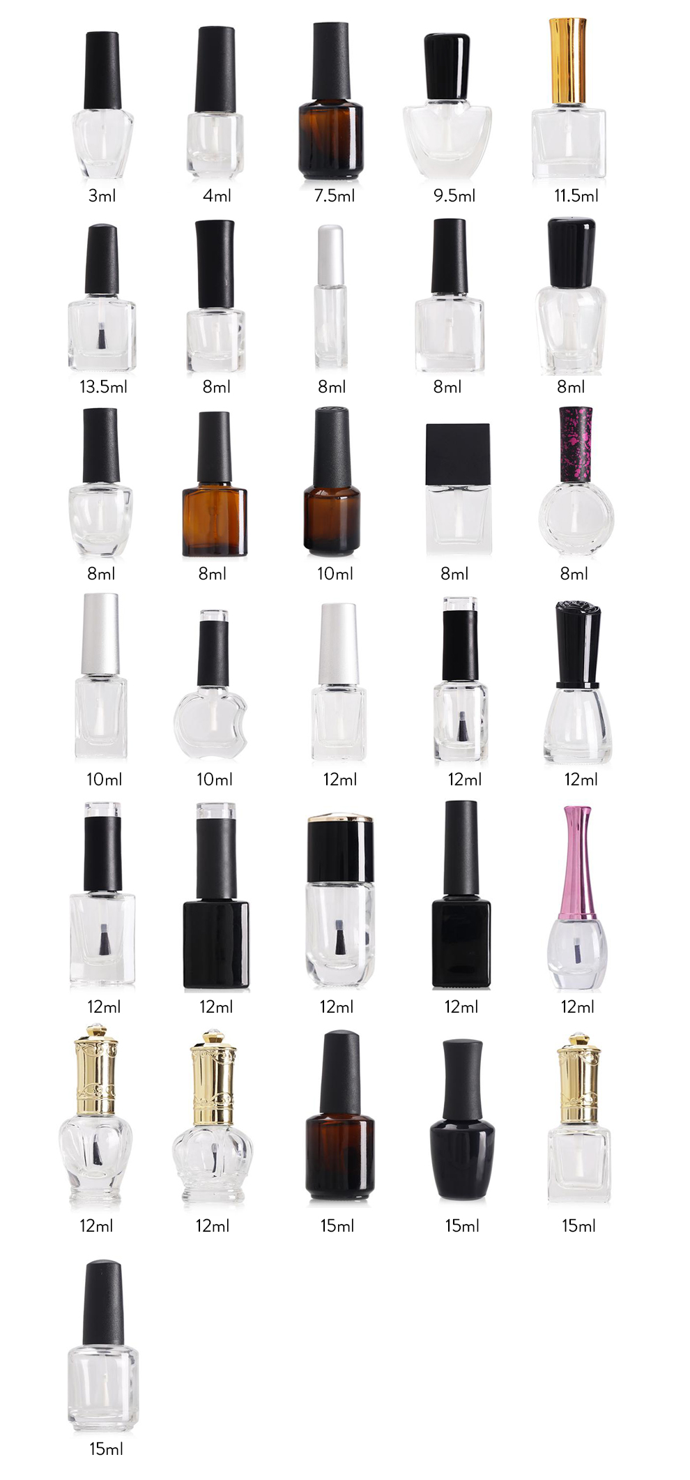 Hollyko oem gel polish private label soak off nail gel polish 8ml bottle for China