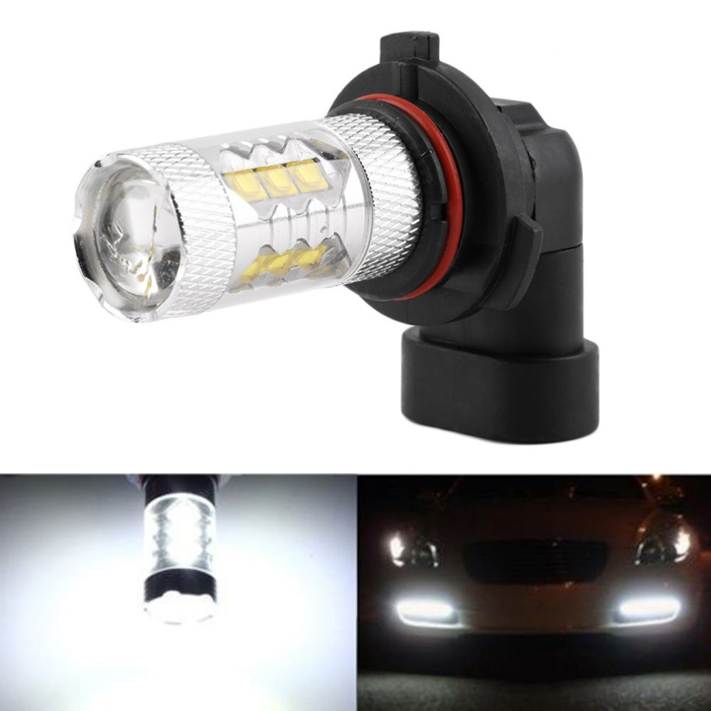 Car Accessory <strong>Auto</strong> 80W for CREE16 SMD LED HB4 9006 Pure White Running Lamp LED Headlight Fog Light Bulb DC12V