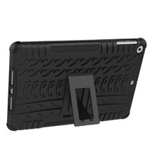 Gorgeous tire grain design 2 in 1 plastic tpu shockproof case for ipad 2 3 4 with free hands stand