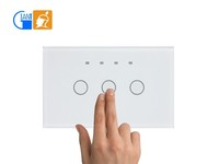 US Model 220v AC Timer Touch Switch with LED lighting on-off for homes JJ-USA-03