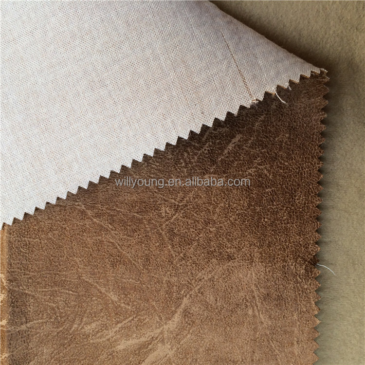 upholstery fabric 100% polyester ultra suede fabric Bronzing leather like faux suede fabric for furniture sofa jacquard