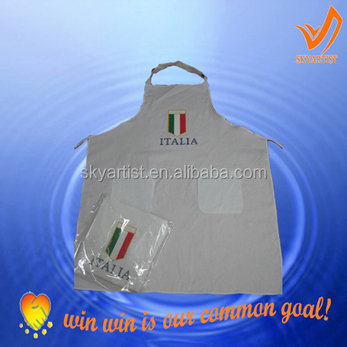 trendy hotel and restaurant advertising chef works aprons,italian uniform and italian soccer aprons