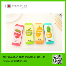 Plastic creative stationery eraser/colorful fruit pink green yellow blue for children study