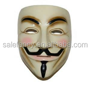 v for vendetta mask for sale Anonymous Guy Fawkes Fancy Dress Adult Costume Accessory QMAK-2004