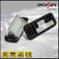 LED licence plate light for cars