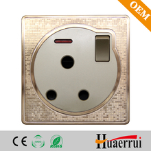 15 A south Africa wall socket with double pole switch