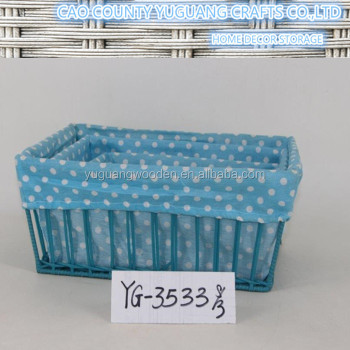 multiple usage blue color sundry baskets