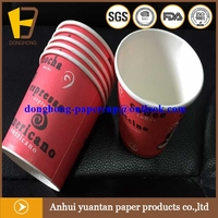 Eco friendly stocked christmas paper coffee carton cups