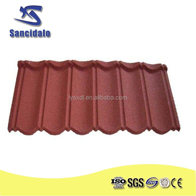 low price cost of coated roof tile