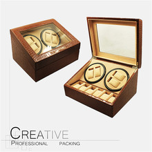 China Factory Custom Wood 4+6 Automatic Watch Winder Box with ROHS