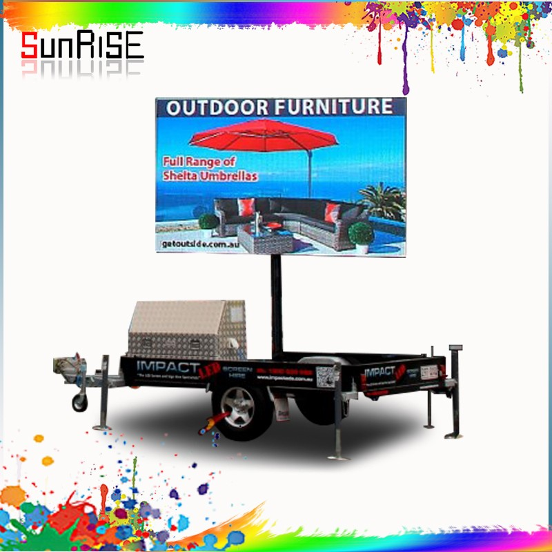 trailer mounted advertising led display magnetic levitation car display