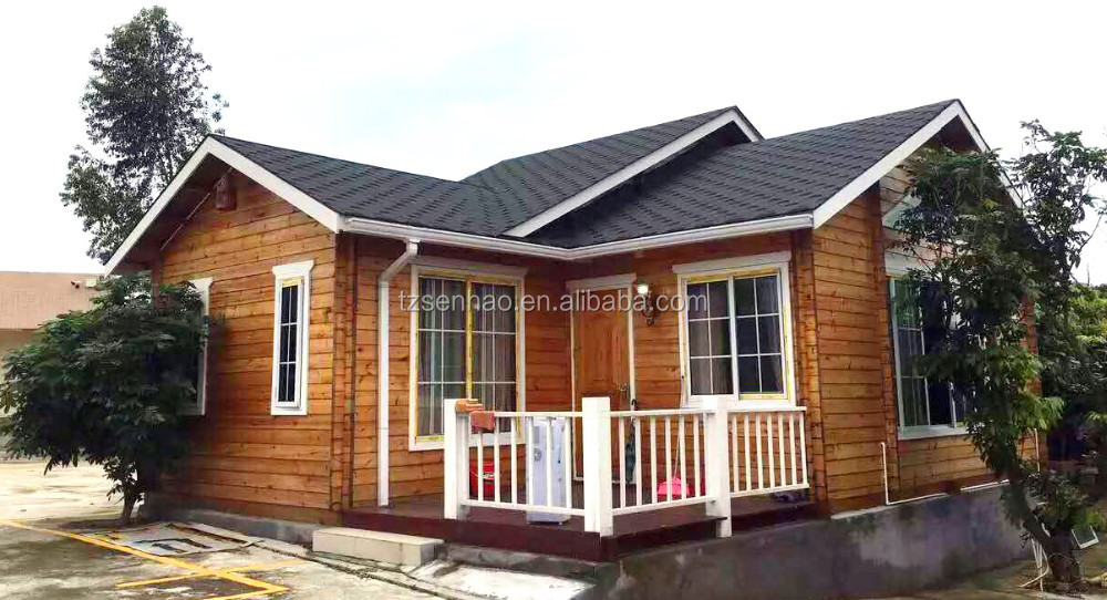 prefab house real steal wooden house /log cabin China manufacture sale