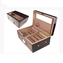 with window cigar wooden vintage case humidor storage box