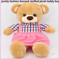 modern design pretty fashion dressed stuffed plush teddy bear