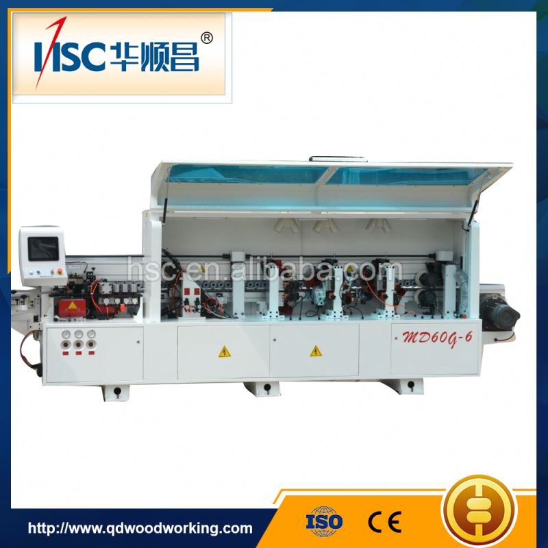 Curved line woodworking edge banding machine with gluing