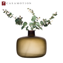 Wholesale CASAMOTION Decorative Frosted Glass Flower Vase for Wedding Centerpiece