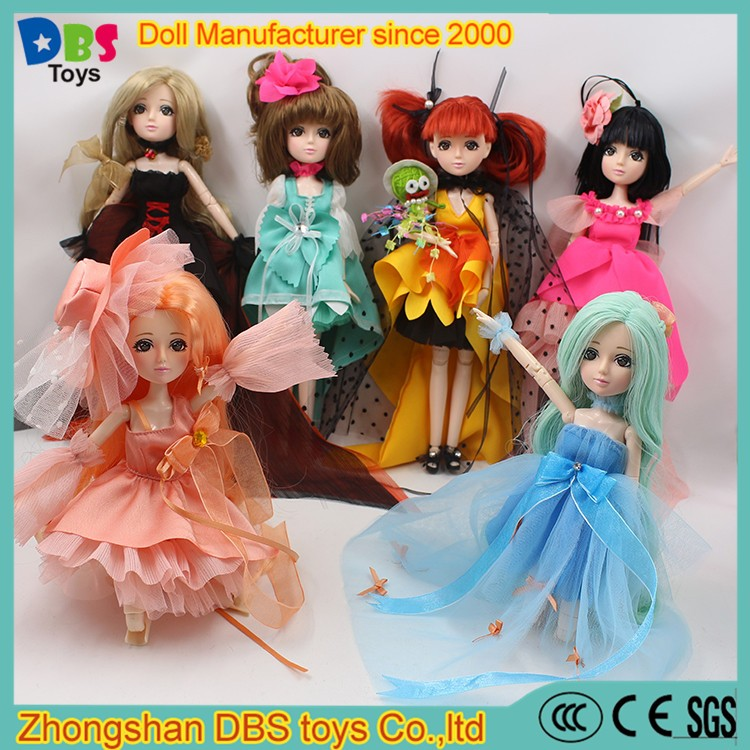 (YW-XJ161200) Fashion DBS toys articulated 30 joints plastic dolls for dressing