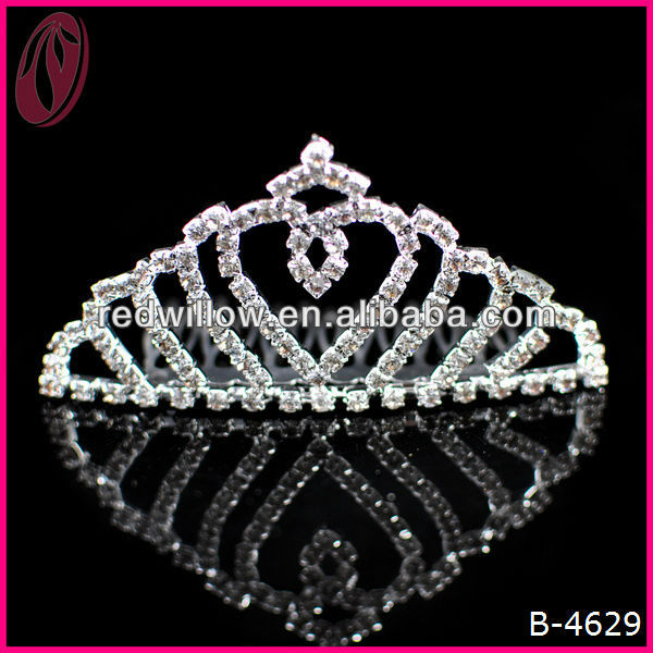 Hot !!! Promotional Cheap Christmas Tiara Crown Beaded Jeweled