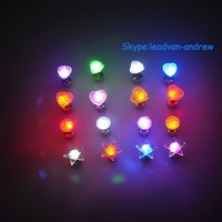 New Style Hot Sale LED Flashing Multicolor Charm LED Earrings