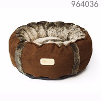 964036 rosey form pet beds donut design round shape cat beds small dogs beds with removable cushion