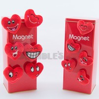 Heart Shaped Giveaway Plush Magnets