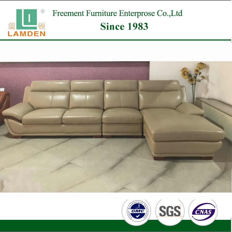 C2202 living room furniture manufacuturer modern new model genuine <strong>leather</strong> sofa with chaise