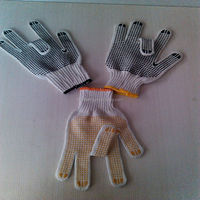 pvc dotted working glove/cotton gloves white s/m/l/xl/xxl/xxxl