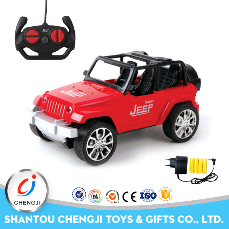 Hobby grade 4 channel plastic off road rc jeep 4wd with light