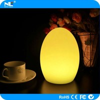 Rechargeable cordless decorative LED table lamp / LED color changing ball light outdoor