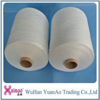 buy direct from china manufacturer 100% polyester thread for knitting yarn use single yarn