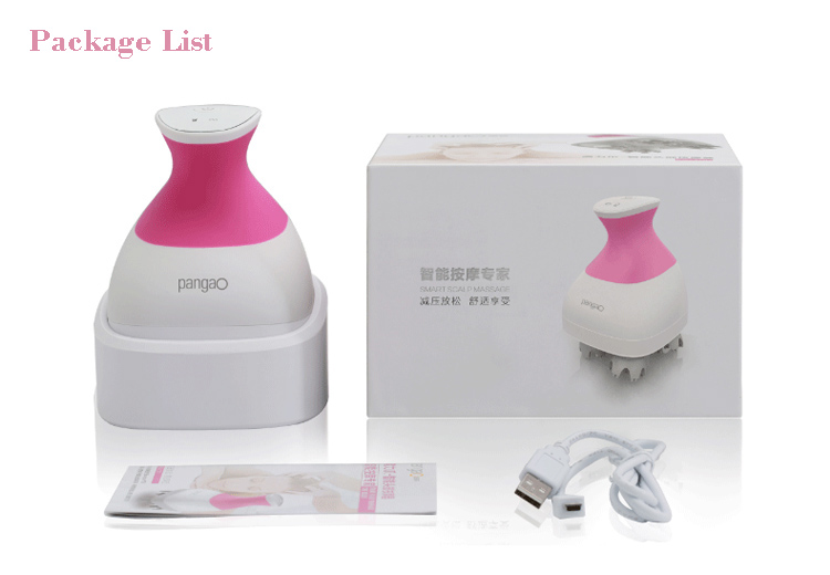 Waterproof Electric Hair Salp Massager with 3D Massage Technology