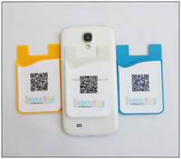 silicone credit card holder case for cell phone